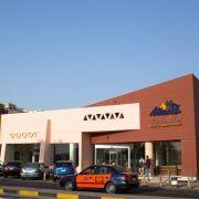 Eingang des Hotels in Hurghada, Ägypten, das zu der Ferienanlage gehört, an dessen Strand die Messer-Attacke stattfand.