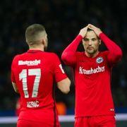 Eintracht Frankfurt will ins Halbfinale im DFB-Pokal einziehen. (Foto)