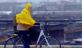 Eisiger Regen in Berlin (Foto)