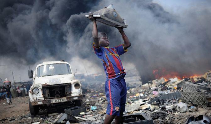 Eletroschrotthalde in Accra (Foto)