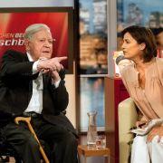 Er gibt den Ton an: Helmut Schmidt zu Gast bei Sandra Maischberger.