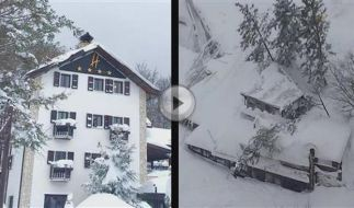 Hotel in Italien verschüttet