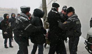 Erneut Razzien und Festnahmen in Weißrussland (Foto)