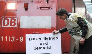 Erneut Warnstreiks im Zugverkehr (Foto)