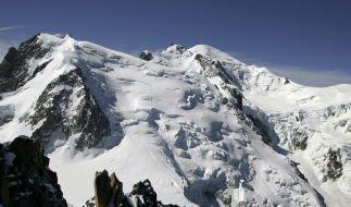 Erneutes Unglück auf dem Mont Blanc: Zwei Bergsteiger erfrieren kurz vor dem Gipfel. (Foto)