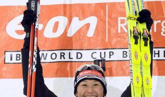 Erster Biathlon-Weltcupsieg für Hauswald (Foto)