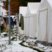 Können alle Flüchtlinge winterfestin Deutschland untergebracht werden? (Foto)