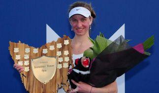 Erster Tennis-Turniersieg für Barthel in Hobart (Foto)