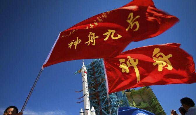 Es soll erstmals mit einer Frau an Bord ins All abheben: das chinesische Raumschiff «Shenshou 9». (Foto)