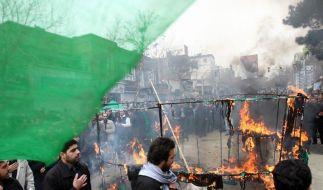 Es gibt Berichte über Tote bei neuen Protesten in Teheran. (Foto)