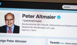 Es zählt zu den bekanntesten Politikern auf Twitter in deutschen Breitengraden: Umweltminister Peter Altmaier (CDU). (Foto)