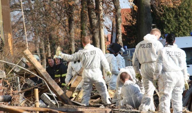 Explodiertes Wohnhaus in Zwickau (Foto)