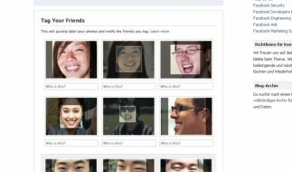Facebook-Gesichtserkennung (Foto)
