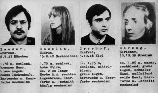 Fahndungsfotos von 1971 von RAF-Mitgliedern. Unmittelbar nach Andreas Baader und Gudrun Ensslin: Manfred Grashof, der 1972 zusammen mit Wolfgang Grundmann festgenommen wurde. (Foto)