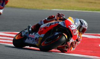 Fahrer Marc Marquez vom Team Honda könnte in San Marino dem WM-Sieg ein ganzes Stück näher kommen. (Foto)