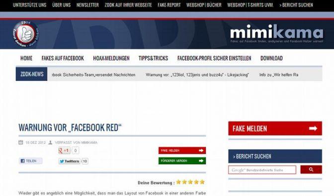 Falschen Facebook-Alarm enttarnen (Foto)
