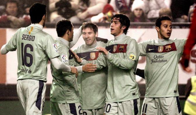 FC Barcelona im Schongang im Pokal weiter (Foto)
