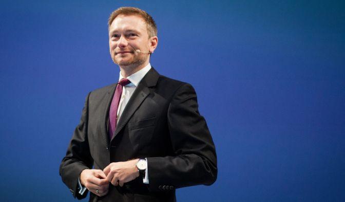 FDP-Chef Lindner während des Dreikönigstreffens. (Foto)