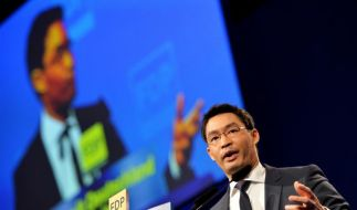 FDP-Chef Rösler bei Parteitag. (Foto)