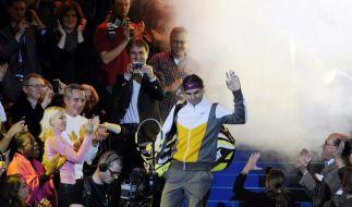 Federer gewinnt erstes Benefizspiel gegen Nadal (Foto)