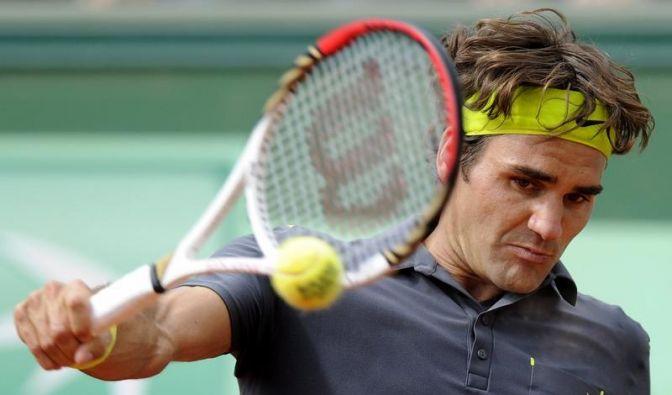 Federer zieht mit etwas Mühe ins Viertelfinale ein (Foto)