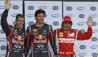 Fernando Alonso, Mark Webber, Sebastian Vettel (Foto)