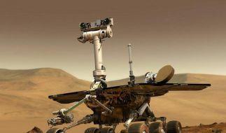 Festgefahrener Marsrover wird Forschungsstation (Foto)