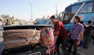 Flucht aus Syrien: Iraker, die vor der Gewalt aus ihrem eigenen Land geflohen sind, machen sich wieder auf die Suche nach einem sicheren Ort. (Foto)