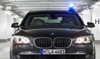 Fluchtreaktion im Preis inbegriffen: Der kommende BMW 7er High Security. (Foto)