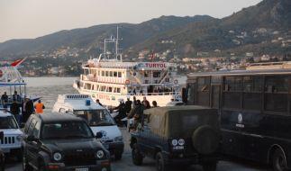 Flüchtlinge auf Lesbos. (Foto)