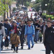 Vor Beginn der Abschiebung - Flüchtlinge fliehen aus Lager (Foto)