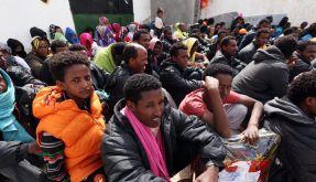 Flüchtlinge in Tripolis. (Foto)