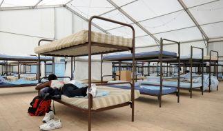 Flüchtlingsunterkunft in München. (Foto)