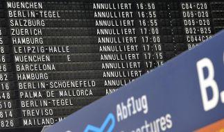 Fluglotsen-Streik  (Foto)