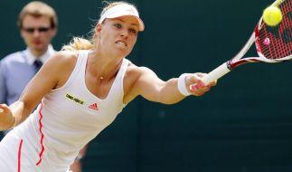 Fokussiert: Angelique Kerber erreichte in Wimbledon die dritte Runde. (Foto)