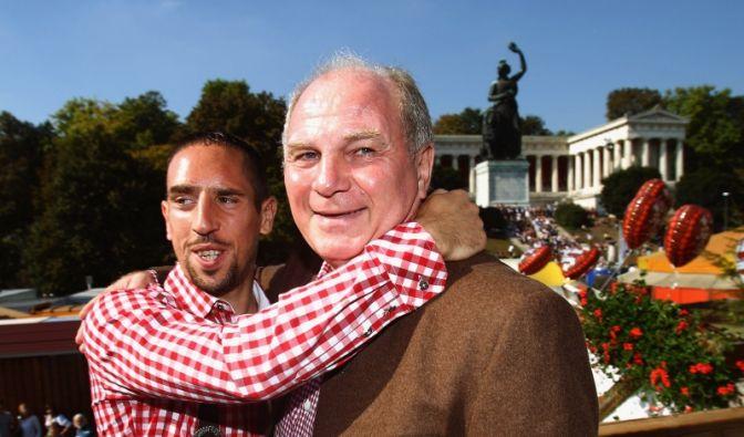 Franck Ribéry und Uli Hoeneß (Foto)