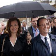 Francois Hollande mit seiner aktuellen Lebensgefährtin Valerie Trierweiler.