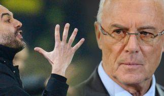 Franz Beckenbauer warnt Pep Guardiola. (Foto)