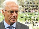 Franz Beckenbauer wird 65 (Foto)