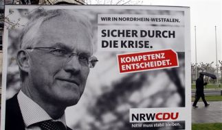Für eine weitere Amtsperiode wird es eng: CDU-Ministerpräsident Jürgen Rüttgers. (Foto)