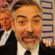 Funny: George Clooney in Baden-Baden.