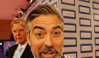 Funny: George Clooney in Baden-Baden. (Foto)