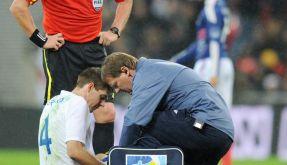 Fußballverband: Entschädigung für Gerrard-Blessur (Foto)