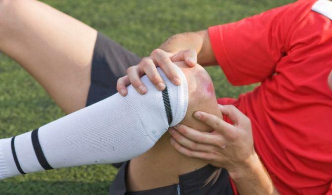 Fußballverletzung (Foto)