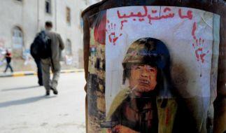 Gaddafi-Plakat (Foto)