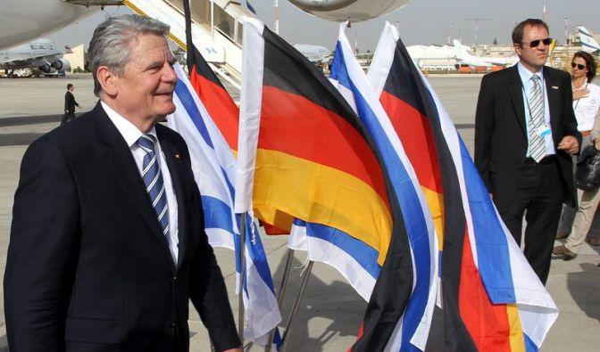 Gauck zu Staatsbesuch in Israel eingetroffen (Foto)