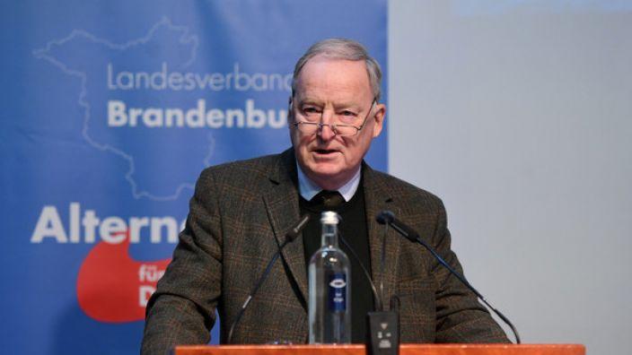 Gauland gibt AfD-Spitzenposten in Brandenburg für Bundestagswahl auf