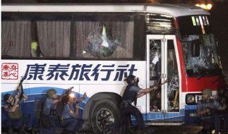 Geiselnehmer in Manila von Einsatzkräften erschossen (Foto)