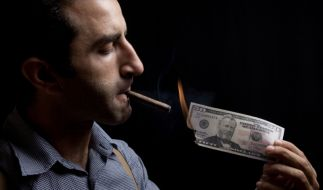 Geld verpulvert (Foto)