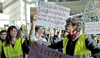 Generalstreik in Portugal (Foto)